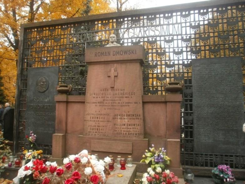 Grób Dmowskiego na Cmentarzu Bródnowskim