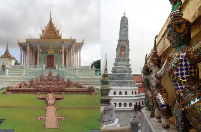 Pałac Królewski w Bangkoku i Phnom Penh