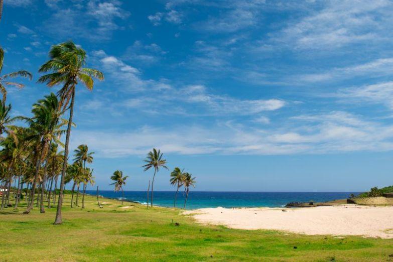plaża anakena wyspa wielkanocna