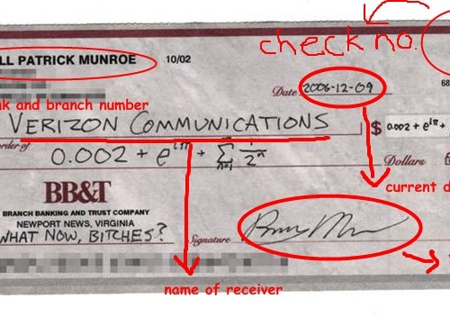How to write a check 500
