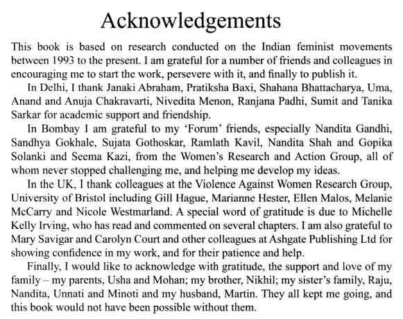 Writing Acknowledgements