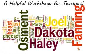 Proper Nouns – A Helpful Worksheet for Teachers