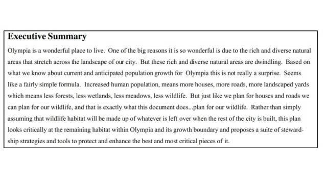 Habitat Exec. Summary