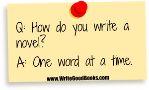 Whatever method you use, in the end your only option is to just sit down and start writing.
