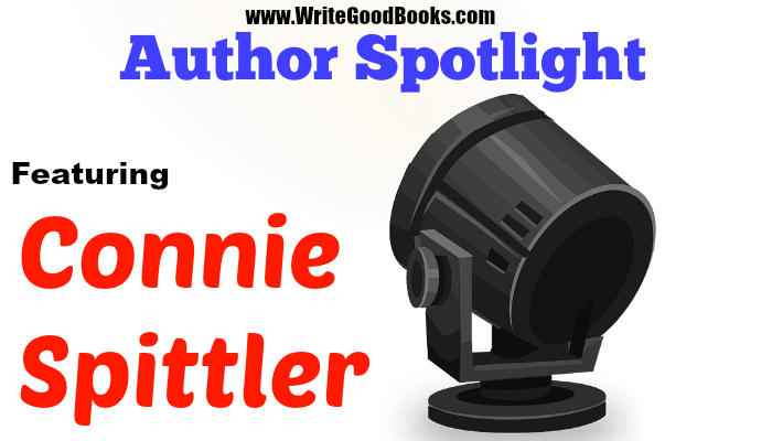 Write Good Books author spotlight featuring Connie Spittler