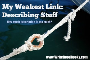 My weakest link in writing fiction. Descriptions. How much description is too much?