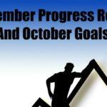 September Progress Report and October Goals (2016)