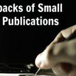 Drawbacks of Small Press Publications
