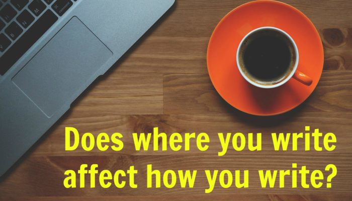 Does where you write affect how you write?