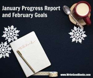 My monthly update on my writing progress and goals.