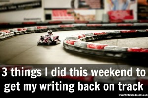 We all fall behind on our writing goals and can often get discouraged. Here are three things I did this weekend to help motivate myself to get back into the writing game.