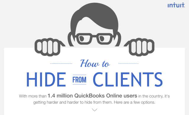 "Intuit ""How to Hide from Clients"" microsite home page top"