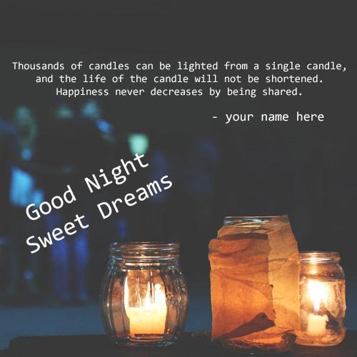Good Night Sweet Dreams Candles Name Pix