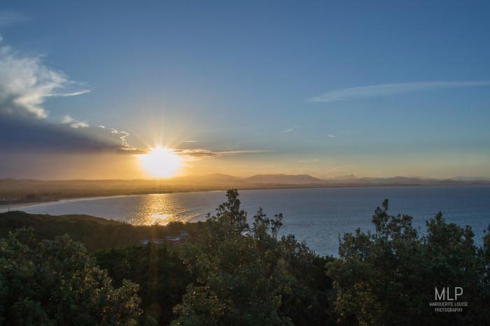 sunset, beach, byron bay, australia