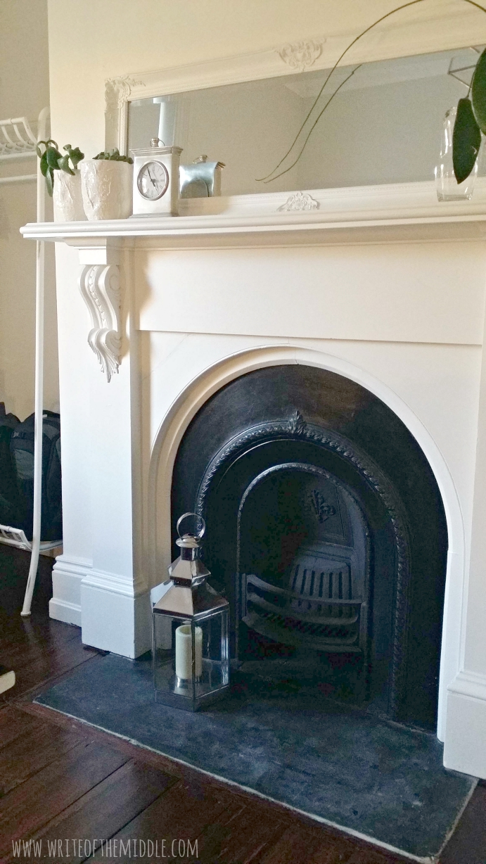 fireplace, mantle