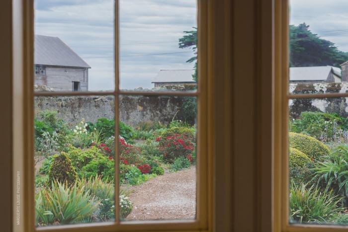garden view, window, highfield house, stanley, tasmania
