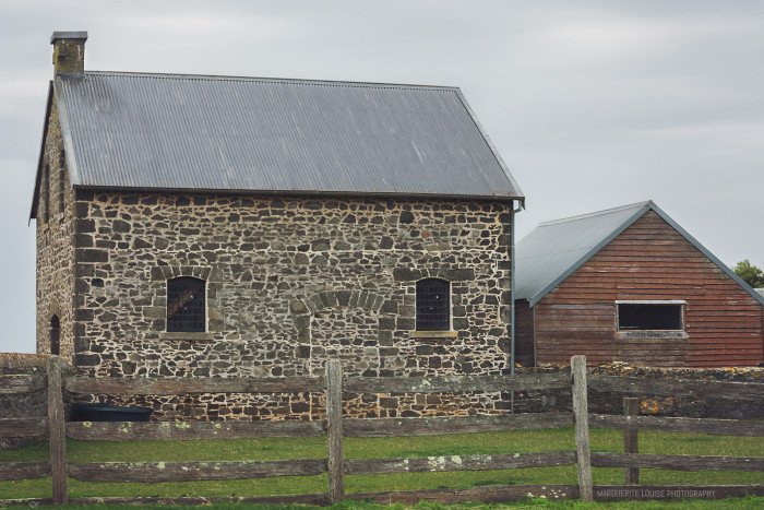 sheds, farmyard, highfield house, stanley, tasmania