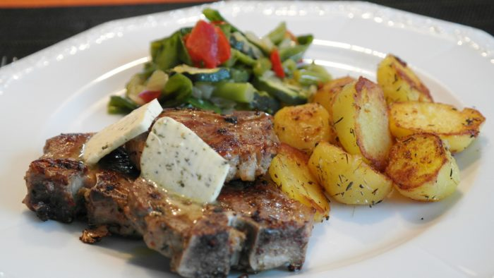 healthy, lamb, vegetables, lamb chops, chops, steak, lamb,