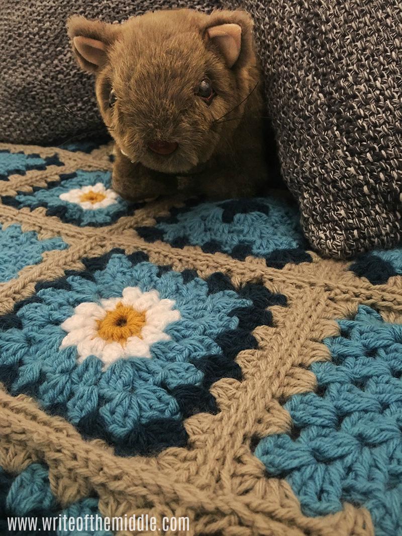 crochet blanket, crochet, wombat