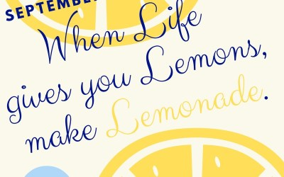 September 2016 Affirmation of the Month: When Life Gives You Lemons