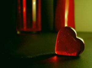 A glass heart.