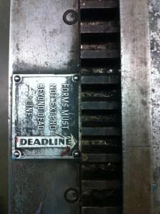 Meet the deadline definition
