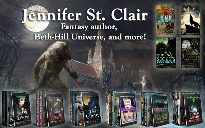 Jennifer St. Clair, featured Fantasy author