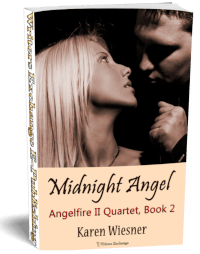 Angelfire II Quartet, Book 2: Midnight Angel 3d cover