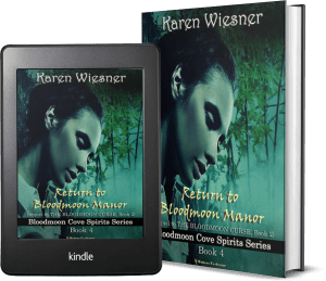 Bloodmoon Cove Spirits Series, Book 4: Return to Bloodmoon Manor 2 covers