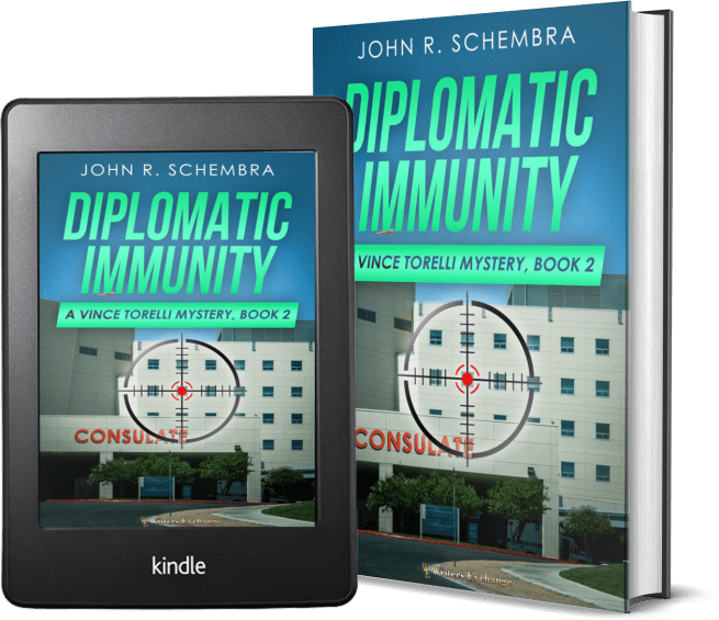 A Vince Torelli Mystery, Book 2: Diplomatic Immunity 2 covers