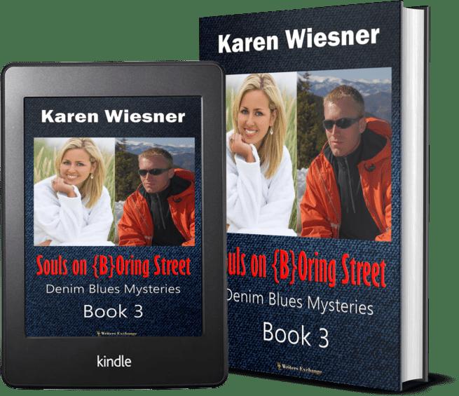 Denim Blues Mysteries, Book 3: Souls on {B}Oring Street 2 covers