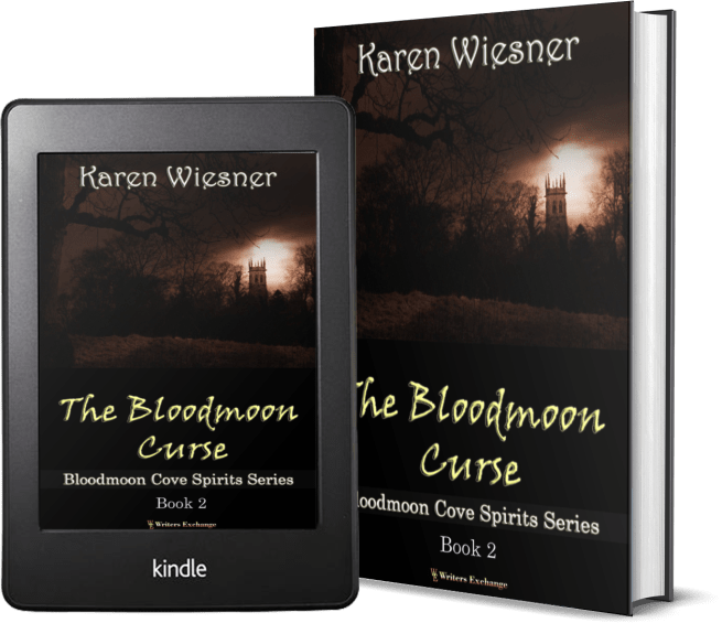 Bloodmoon Cove Spirits Series, Book 2: The Bloodmoon Curse 2 covers