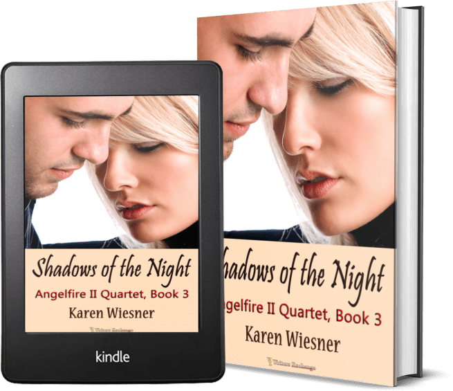 Angelfire II Quartet, Book 3: Shadows of the Night 2 covers