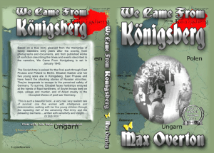We Came from Konigsberg Print cover