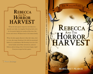 The Wingless Fairy Series Book 5: Rebecca and the Horror Harvest print cover