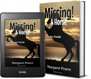 Jumping Into Trouble Series Book 3: Missing! A Horse 2 covers