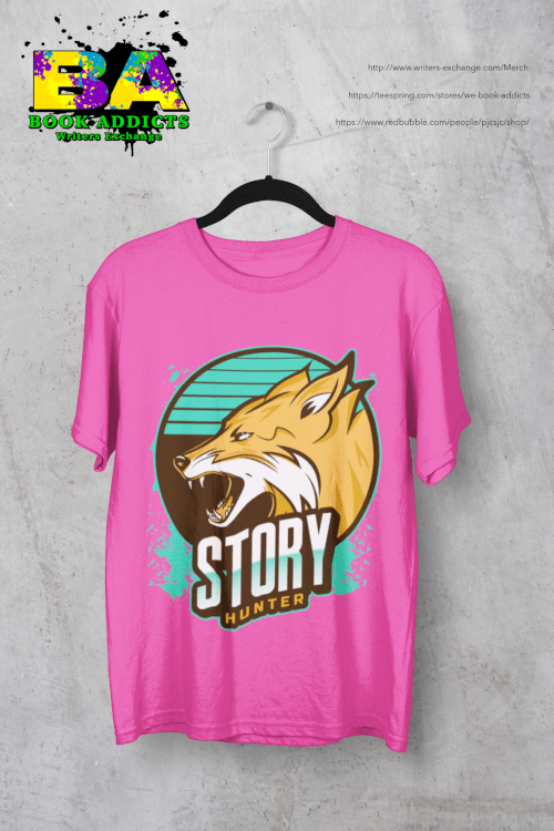 Story Hunter design on tshirt