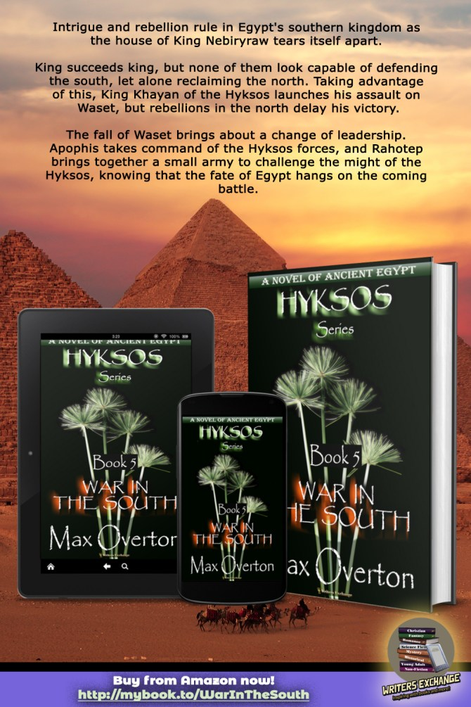 Hyksos Series, Book 5: War in the South, A Novel of Ancient Egypt book with blurb
