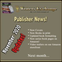 November 2020 Writers Exchange Publisher News