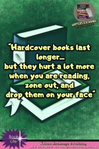Book Meme: Hardcover vs Paperback vertical graphic