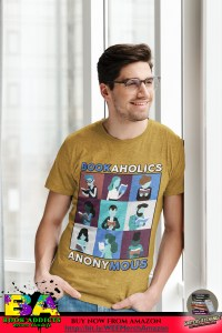 Book Merch: Bookaholics Design with a guy with glasses being chill