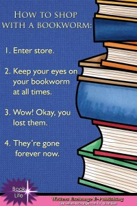 How to shop with a bookworm... Book meme