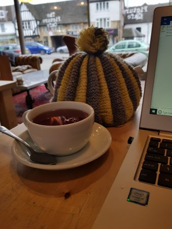 Writing in Grantham, England