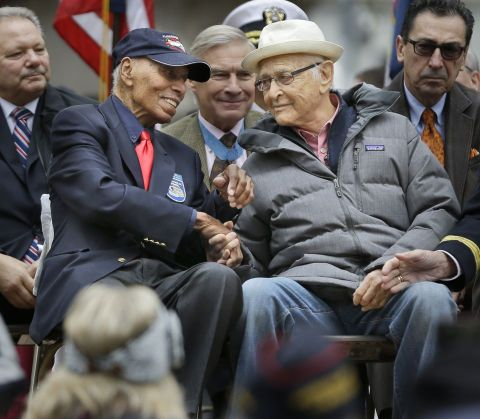 Reaching WAY Back: Legendary Producer Norman Lear reconnects with Roscoe Brown and the Tuskegee Airmen.