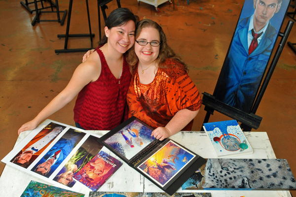 Fellow artists and close friends since first grade. (Left to right) Rachel Heissner and Megen Nelson
