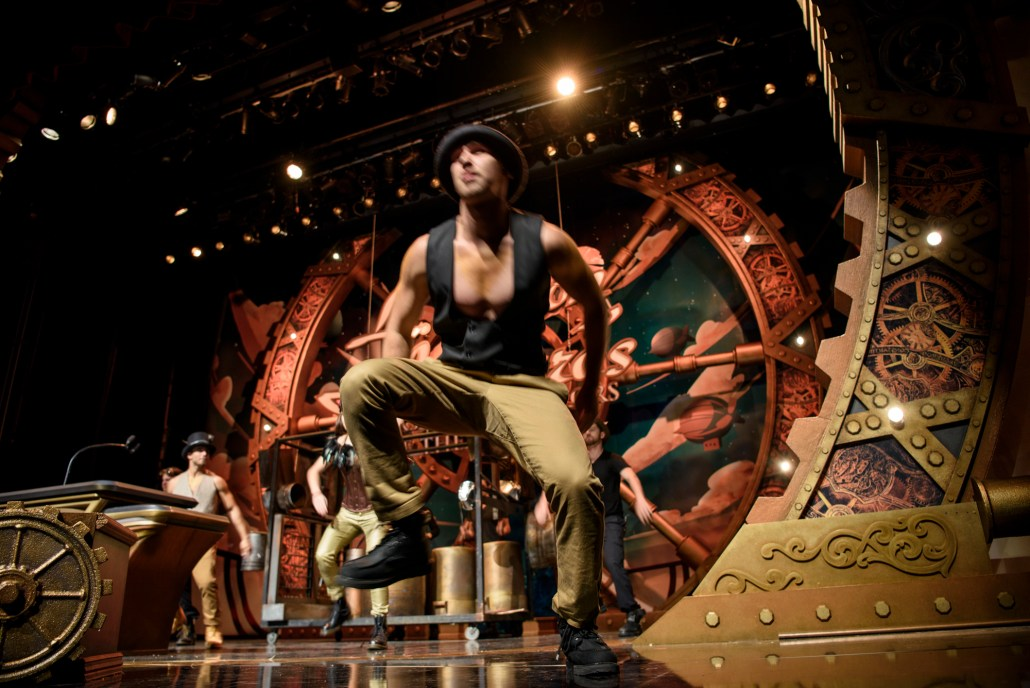 Dancers in the Steampunk themed opening performance.