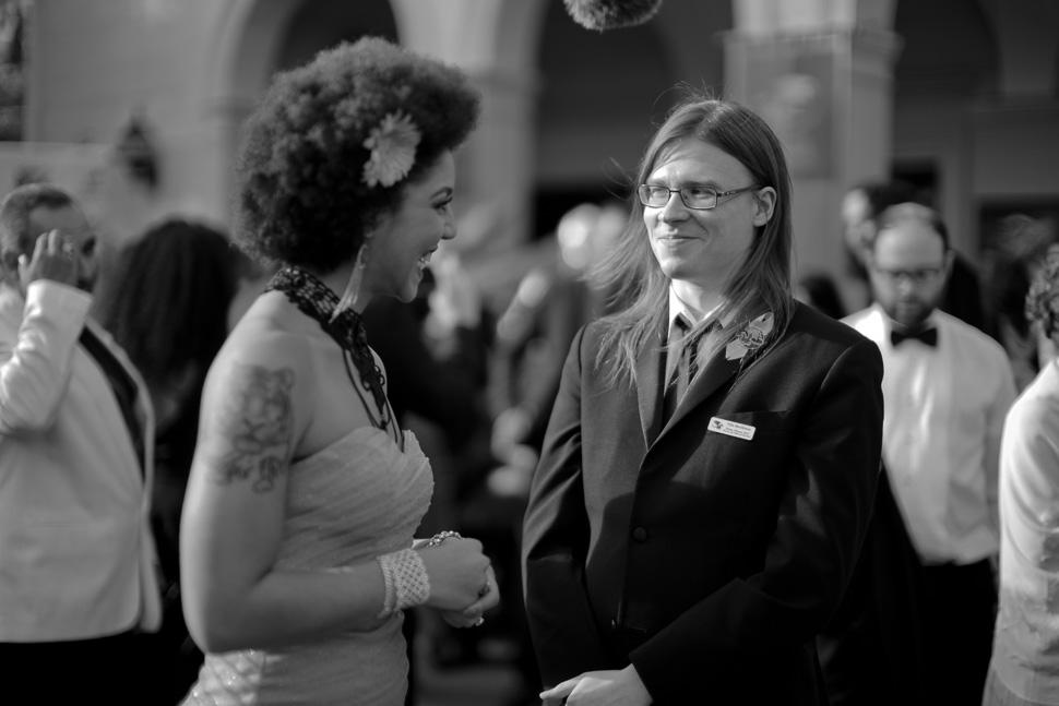 Joy Villa and Ville Meriläinen on the red carpet at the Wilshire Ebell Theatre. Photo by Thorsten Overgaard.