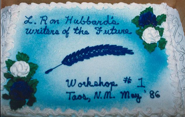 Cake celebrating the first workshop, 1986