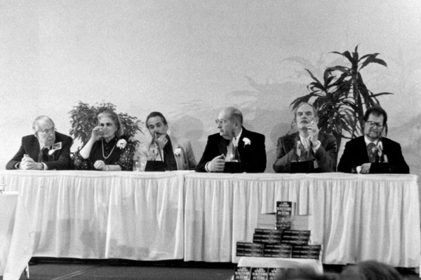 Jack Williamson, Anne McCaffrey, Robert Silverberg, Gene Wolfe, Frederik Pohl and Larry Niven