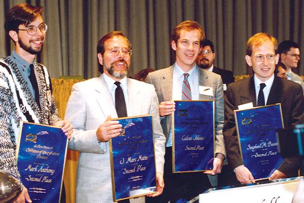 Winners Mark Anthony, Marc Matz, C.W. Johnson and Stephen Baxter.
